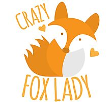 Crazy Fox lady Photographic Print
