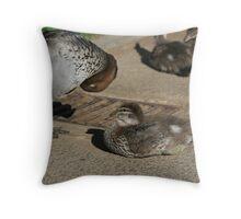 Duck Mum Throw Pillow