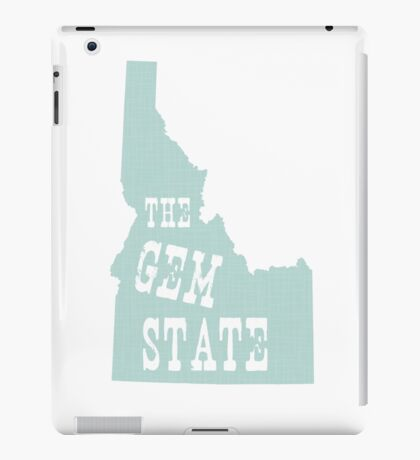 Idaho State Motto Slogan iPad Case/Skin