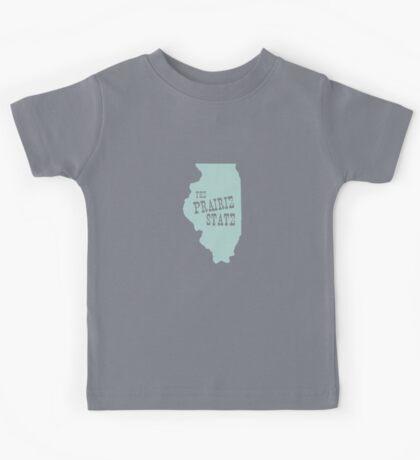 Illinois State Motto Slogan Kids Tee