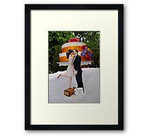 Wedding Cake Topper Framed Print
