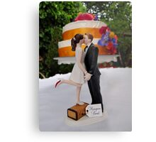 Wedding Cake Topper Metal Print
