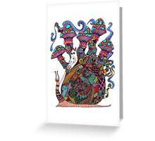 Snail Ride II Greeting Card
