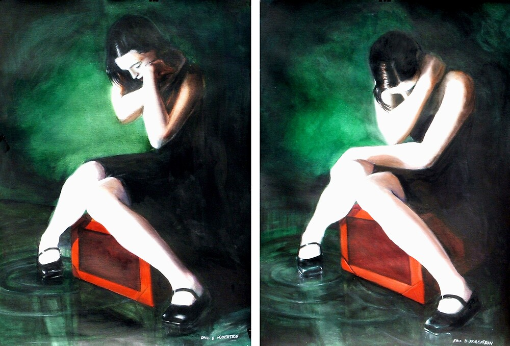Blame Your Green Eyes; For What They Have Seen. (watercolors) by pauldrobertson