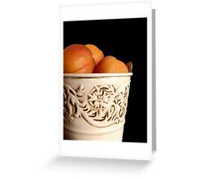 Apricots in Bucket Greeting Card