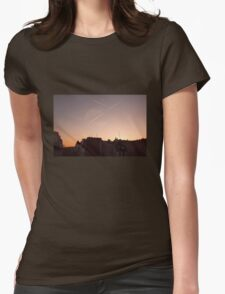 Parisian skyline Womens Fitted T-Shirt
