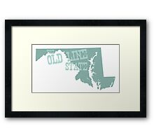 Maryland State Motto Slogan Framed Print