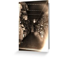 looking in the window - old hardware shop series Greeting Card