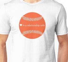 Relationship Status: Baseball (Orange) Unisex T-Shirt