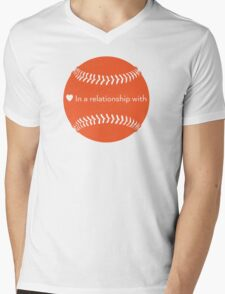 Relationship Status: Baseball (Orange) T-Shirt