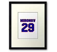National Hockey player Boris Mironov jersey 29 Framed Print