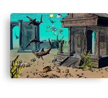 Under Shallow Waters Canvas Print