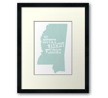 Mississippi State Motto Slogan Framed Print