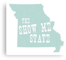 Missouri  State Motto Slogan Canvas Print