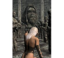 Judgment Before Her Gods Photographic Print