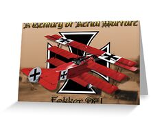Fokker Dr.1 A Century of Aerial Warfare Greeting Card