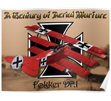 Fokker Dr.1 A Century of Aerial Warfare Poster