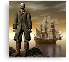 Mutiny By His Own Crew Canvas Print