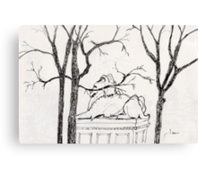 Guardian of the NYC Library * Canvas Print