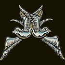 chrome sparrows by Derek Mullins