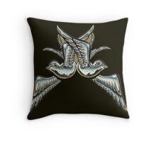 chrome sparrows Throw Pillow