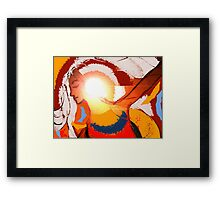 illumination in colour. Framed Print