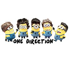One Direction Minions Photographic Print