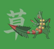 Sceptile With Grass Kanji by ShinobuSensui