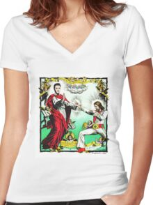 Jesus and Elvis Women's Fitted V-Neck T-Shirt