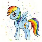 My Little Pony Rainbow Dash Watercolor by OlechkaDesign