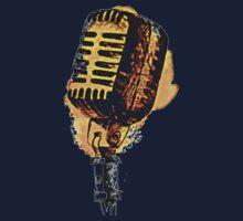 Retro Microphone One Piece - Short Sleeve