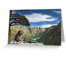 Cougar Canyon Greeting Card
