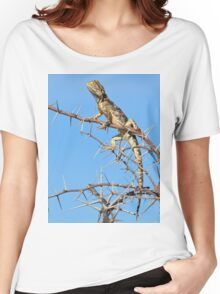 Spiny Agama - Lizard Blues of Fun Women's Relaxed Fit T-Shirt
