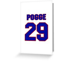 National Hockey player Justin Pogge jersey 29 Greeting Card