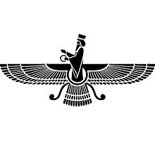 Faravahar, Winged Sun, Symbol Of Higher Spirit Photographic Print