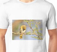 Yellow Masked Weaver - Taking a Rest Unisex T-Shirt