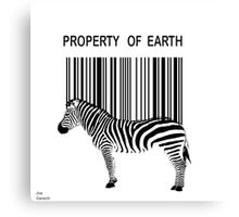 Property of Earth Canvas Print