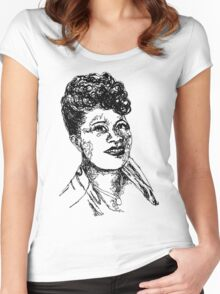 Icon: Ella Fitzgerald Women's Fitted Scoop T-Shirt