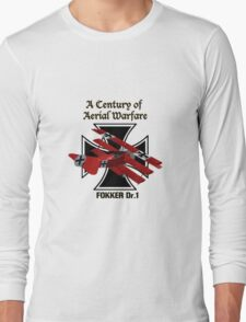 Fokker Dr.1 A Century of Aerial Warfare Long Sleeve T-Shirt