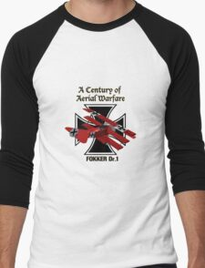 Fokker Dr.1 A Century of Aerial Warfare Men's Baseball ¾ T-Shirt