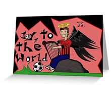 Soccer Angel's Joy Greeting Card