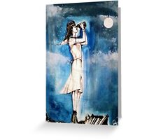 Arrival by Moonlight Greeting Card