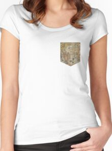 Map tee  Women's Fitted Scoop T-Shirt