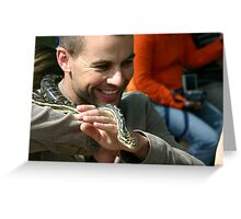 Who's afraid of the big bad snake? Greeting Card
