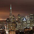 San Francisco skyline at night panorama 3 by Can Balcioglu