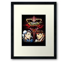 Street Fighter - Chun-li & Ryu Framed Print
