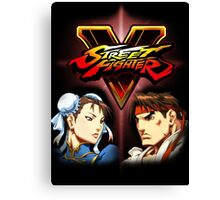 Street Fighter - Chun-li & Ryu Canvas Print