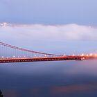 Golden Gate Bridge at dusk by Can Balcioglu