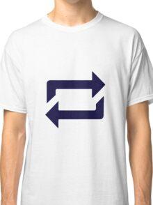 Tumblr Reblog Design Blue Classic T-Shirt