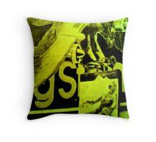 Rolling Stones World Tour: 42nd Street Billboard Throw Pillow